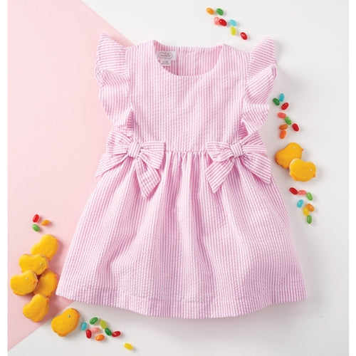 Mud Pie Pink Seersucker Dress