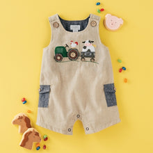 Load image into Gallery viewer, Mud Pie Farmhouse Shortalls