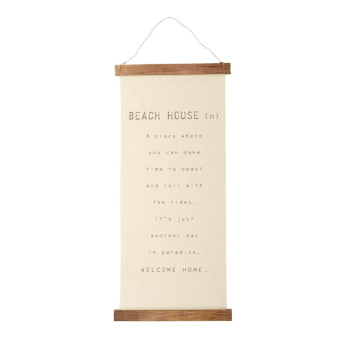Mud Pie Beach Hanging Canvas
