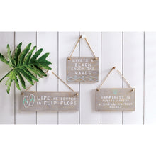 Load image into Gallery viewer, Mud Pie Beach Hanging Plaques