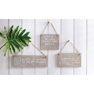 Mud Pie Beach Hanging Plaques