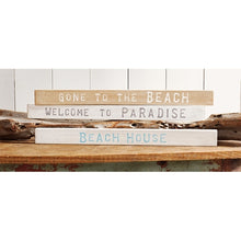 Load image into Gallery viewer, Mud Pie Beach Wood Sentiment Sticks