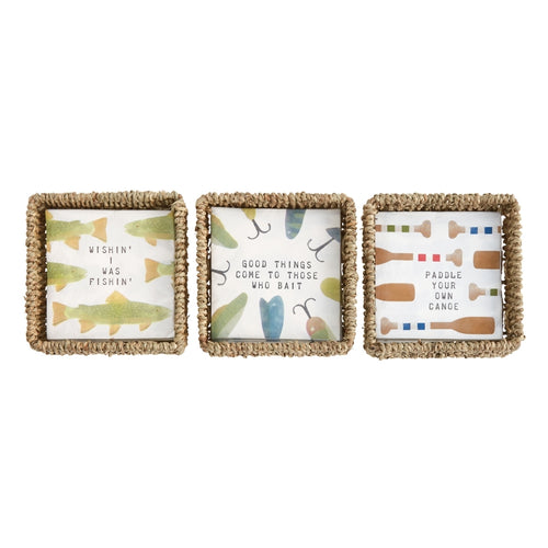 MUD PIE LAKE NAPKIN BASKET SET