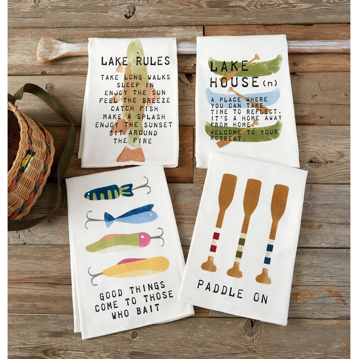 MUD PIE LAKE COTTON TOWELS