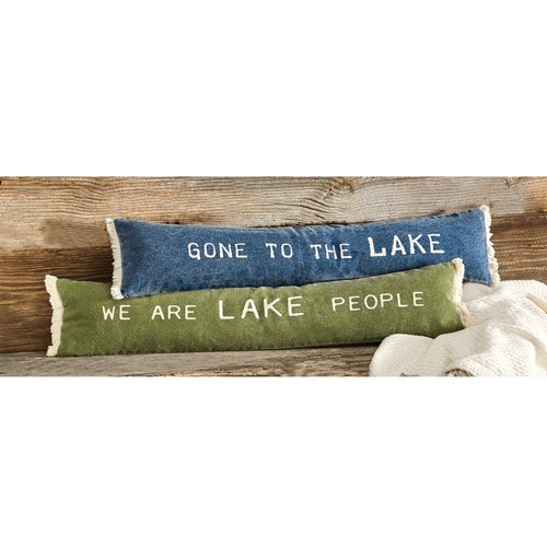 MUD PIE FRAYED LAKE PILLOW