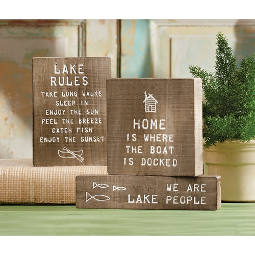 MUD PIE ENGRAVED LAKE PLAQUE