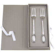 Load image into Gallery viewer, MUD PIE MR. AND MRS. WEDDING FORK SET