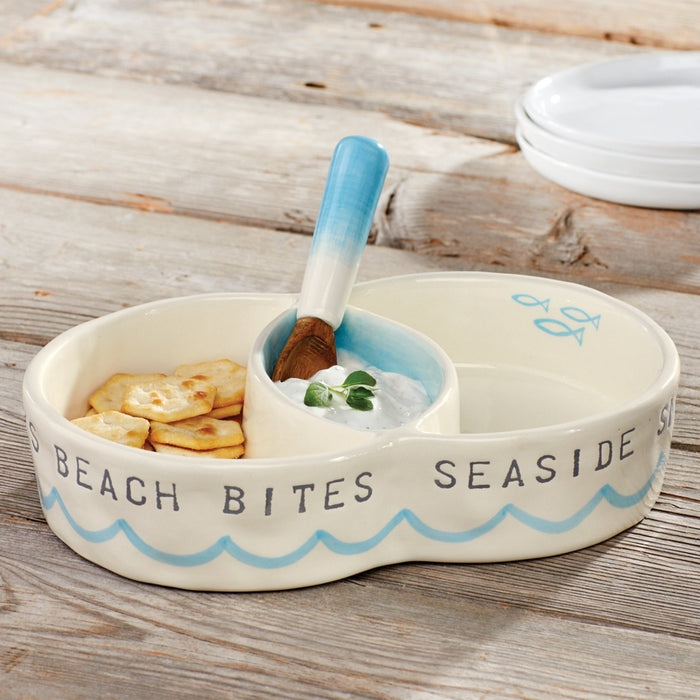 Mud Pie Beach Snack Server Set