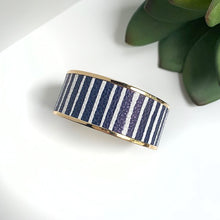 Load image into Gallery viewer, Michelle McDowell Monroe Navy Stripe Bracelet
