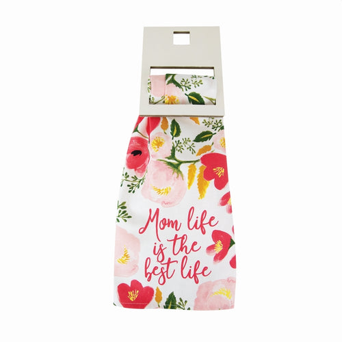 MARY SQUARE MOM LIFE BEST LIFE TEA TOWEL