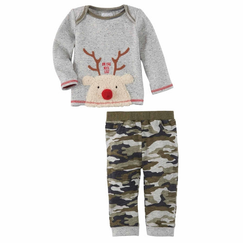 Mud Pie Reindeer Camo Two Piece Set