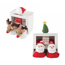 Load image into Gallery viewer, Mud Pie Christmas Pacy Clip & Sock Sets