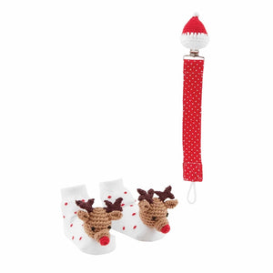 Mud Pie Christmas Pacy Clip & Sock Sets