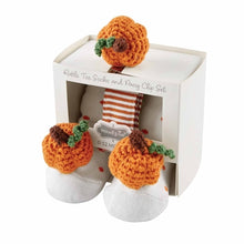 Load image into Gallery viewer, Mud Pie Pumpkin Pacy Clip & Sock Set