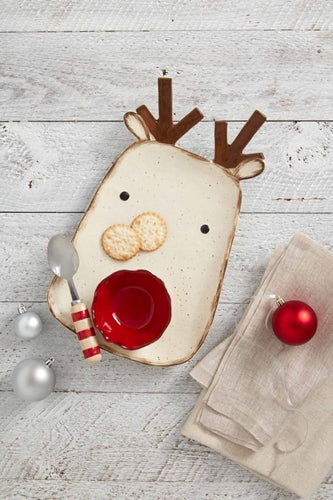 Mud Pie Reindeer Chip & Dip Set