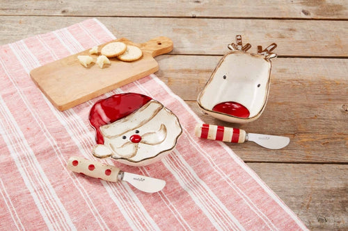 Mud Pie Christmas Farm Dip Bowl Sets