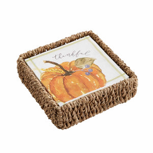 Mud Pie Pumpkin Napkin Basket Sets