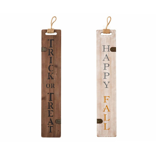 Mud Pie Halloween/Fall Reversible Sign