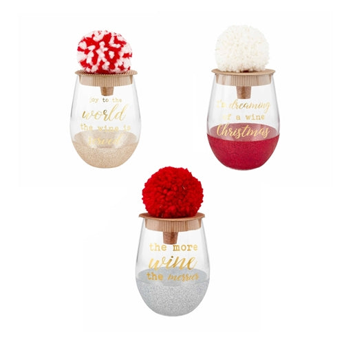 Mud Pie Glitter Wine Glass Sets