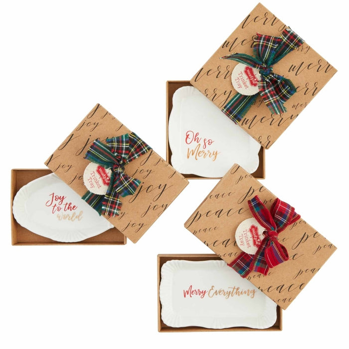 Mud Pie Christmas Trinket Trays