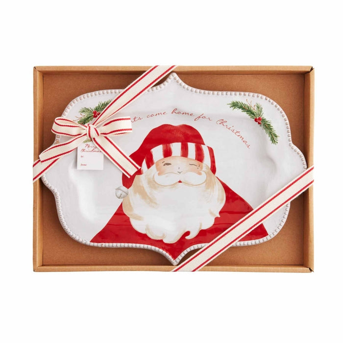 Mud Pie Santa Boxed Platter