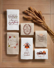 Load image into Gallery viewer, Mud Pie Thanksgiving Waffle Towels