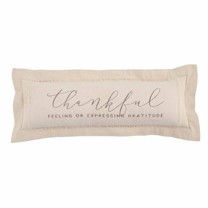 Mud Pie Thankful Pillow