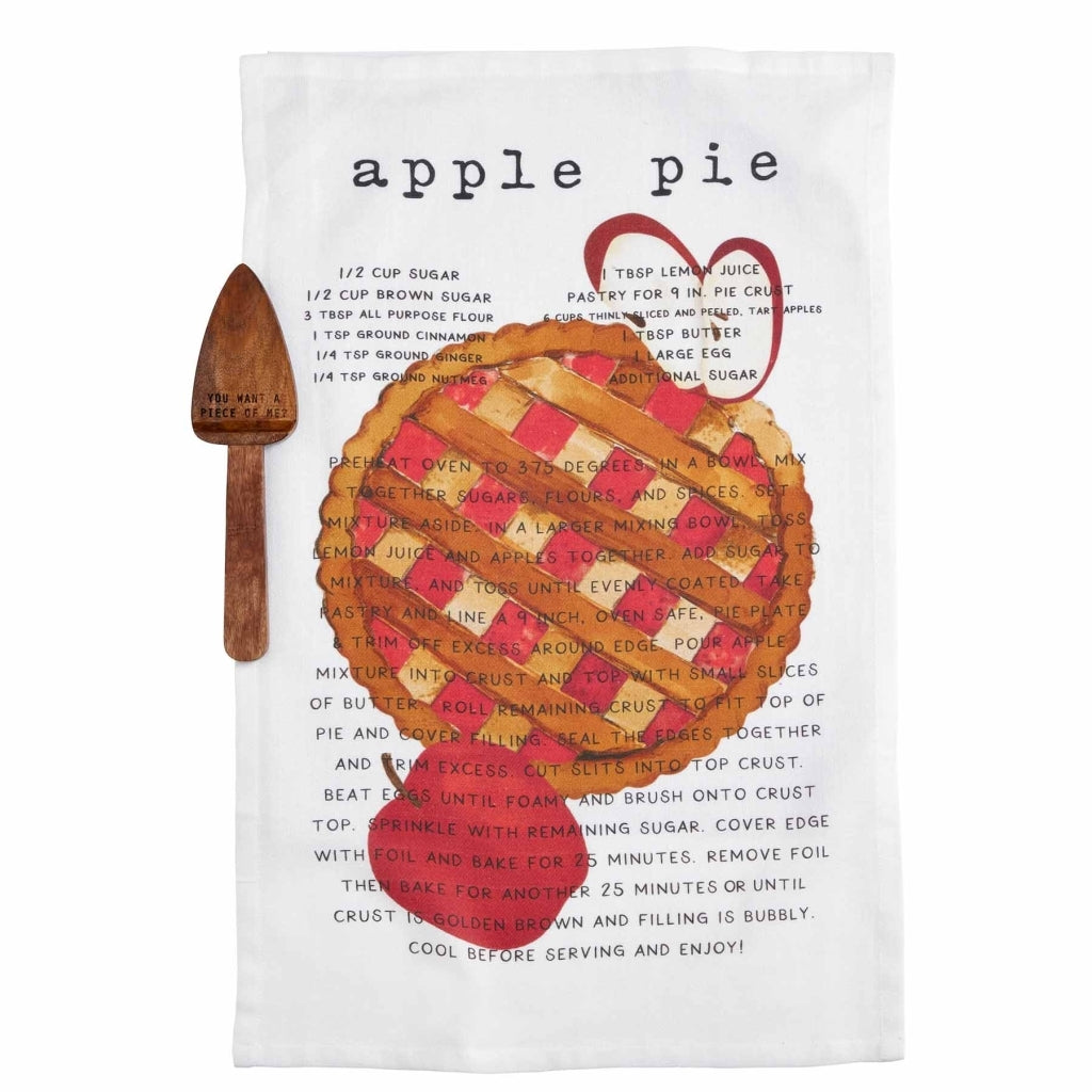 Mud Pie Pie Server & Towel Set