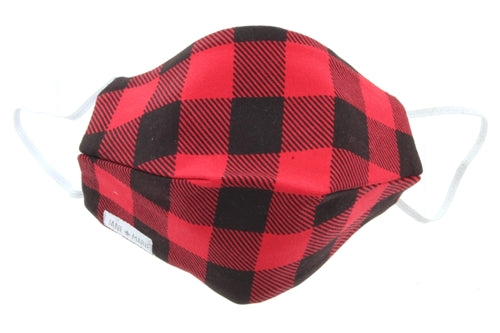 Jane Marie Buffalo Plaid Face Mask