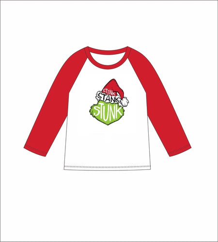 Jane Marie Kids Stink Stank Stunk 3/4 Sleeve T-shirt