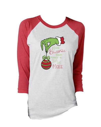 Jane Marie Maybe Christmas Means More Vintage 3/4 Sleeve T-shirt