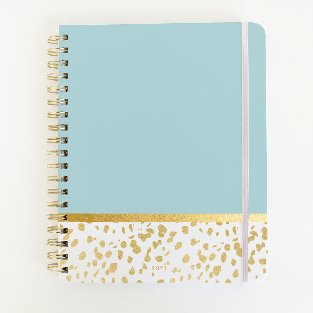 Mary Square Mint & Gold Daily Planner