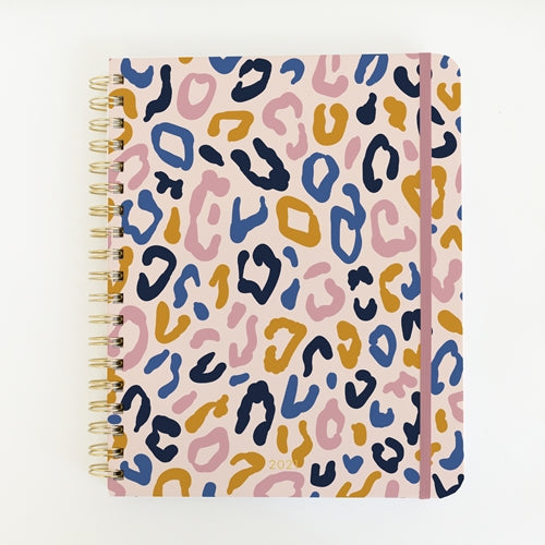 Mary Square Multi Leopard Daily Planner