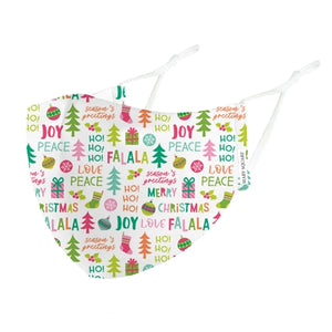 Mary Square Youth Seasons Greetings Face Mask