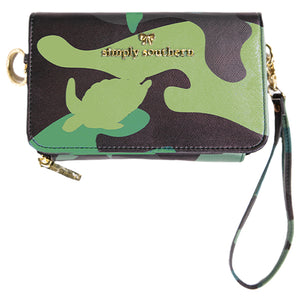 SIMPLY SOUTHERN COLLECTION CAMO LEATHER PHONE CROSS BODY