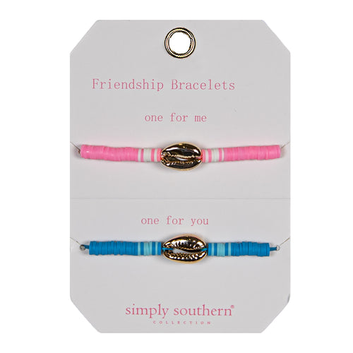 Simply Southern Shell Beads Shareable Friendship Bracelet