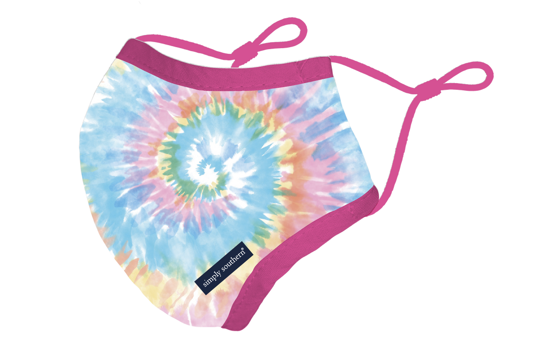 Simply Southern Collection Tie Dye Youth Face Mask