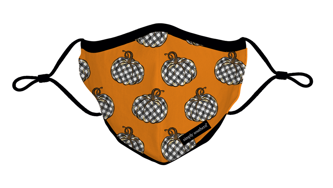 Simply Southern Collection Youth Pumpkin Face Covering