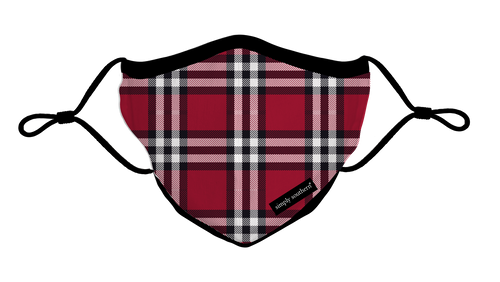 Simply Southern Collection Youth Holiday Plaid Face Covering