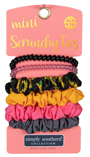 Simply Southern Sunflower Mini Scrunchy Ties