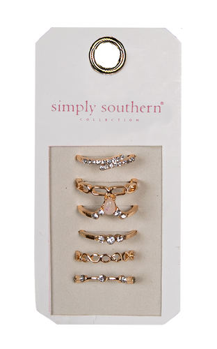 Simply Southern Stone Ring Set