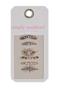 Simply Southern Teardrop Ring Set