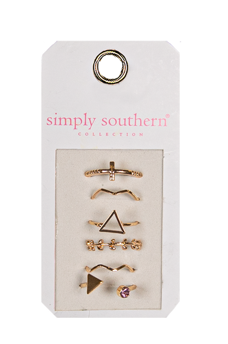 Simply Southern Triangle Ring Set