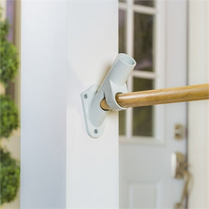 EVERGREEN 2-POSITION ALUMINUM HOUSE FLAG BRACKET, WHITE FINISH