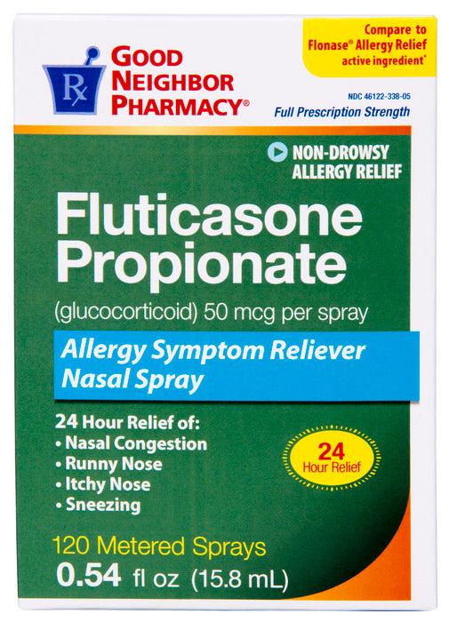 GOOD NEIGHBOR PHARMACY FLUTICASONE 24 HOUR ALLERGY 120 SPRAYS 15.8 ML