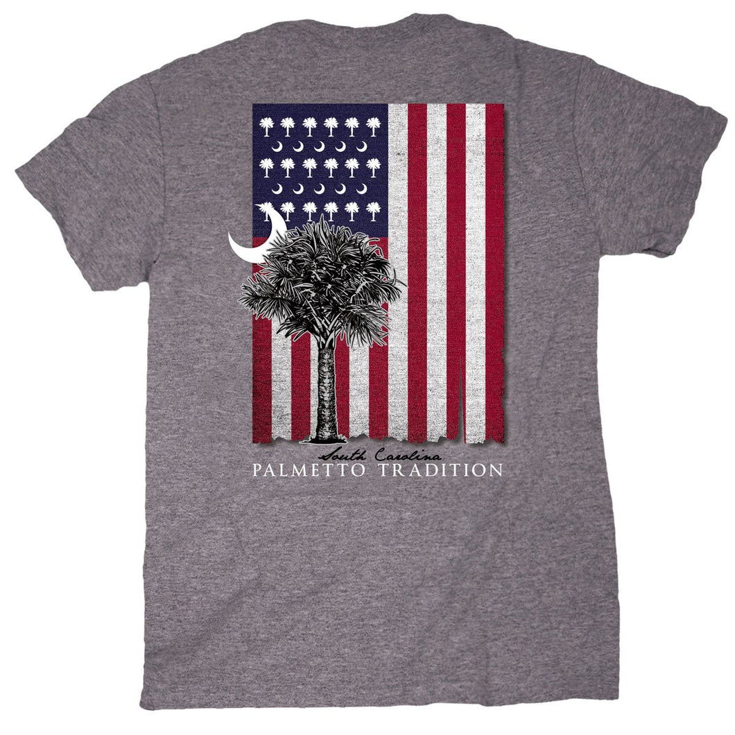 Palmetto Shirt Co. USA Flag Short Sleeve T-shirt