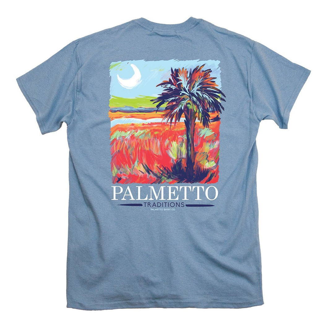 Palmetto Shirt Co. Painted Palmetto Short Sleeve T-shirt