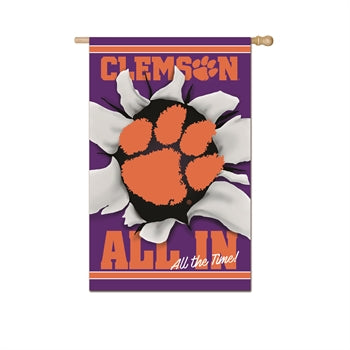 EVERGREEN ALL IN CLEMSON HOUSE FLAG