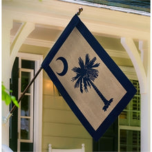 Load image into Gallery viewer, South Carolina Palmetto House Burlap Flag