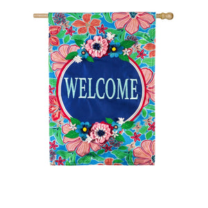 EVERGREEN SP20 FLOWER WELCOME HOUSE FLAG